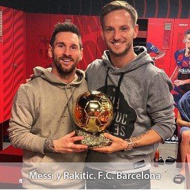 Messi Rakitic F.C. Barcelona