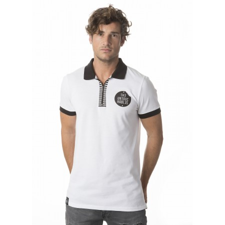 POLO ZIP WHITE