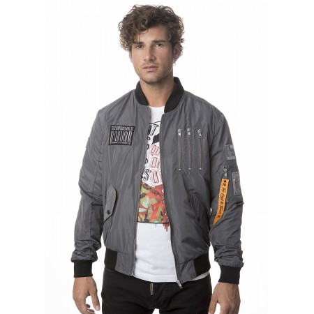 BOMBER RETRO GREY