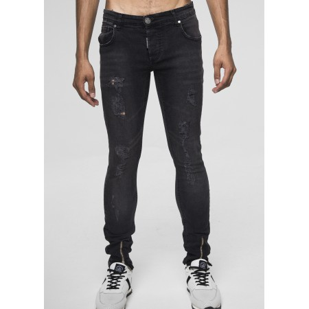BOX SKINNY LY DENIM BLACK