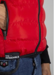 CUSHION VEST RED